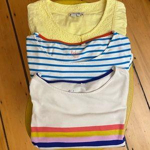 Boden Bundle! 2 Striped Tee Shirts & 1 Blouse